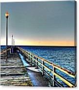 Pier - Chesapeake Bay Bridge #1 Canvas Print