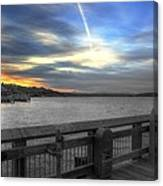 Pier Eve Canvas Print