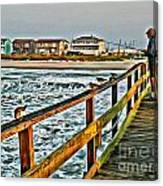 Pier Fishing 2 Canvas Print
