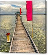 Pier Flags Canvas Print