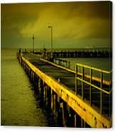 Pier Glow Canvas Print