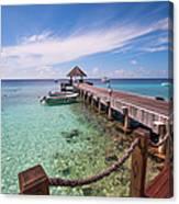 Pier Into Blue. Resort Vivanta By Taj Canvas Print