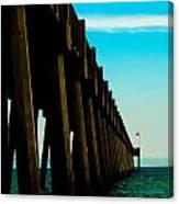 Pier Into The Horizon Canvas Print