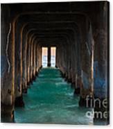 Pier Pylons Canvas Print