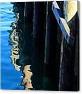 Pier Reflection Canvas Print