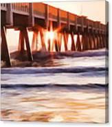 Pier Sunrise Too Canvas Print