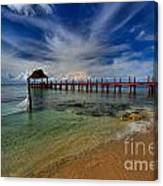 Pier To Paradise Canvas Print