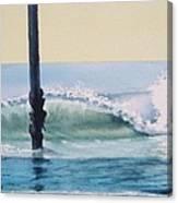 Pier Wave Canvas Print