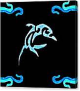 Pierced Dolphin Canvas Print