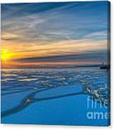 Pierhead Polar Vortex Sunrise Canvas Print
