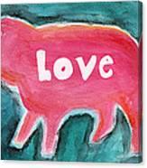 Pig Love Canvas Print