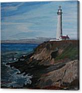 Pigeon Lighthouse Daytime Titrad Canvas Print