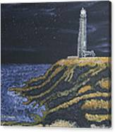 Pigeon Lighthouse Night Scumbling Complementary Colors Canvas Print