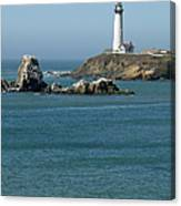 Pigeon Point Lighthouse Near Half Moon Bay-san Francisco Canvas Print