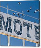 Pigeon Roost Motel Sign Canvas Print