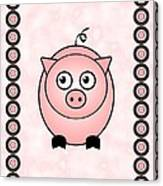 Piggy - Animals - Art For Kids Canvas Print