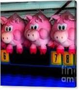 Piggy Race Canvas Print