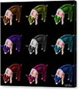 Piglet Pop Art - 0878 Fs - M - Bb Canvas Print