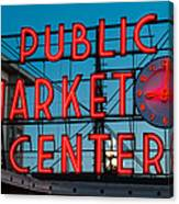 Pike Place Public Market Seattle Canvas Print