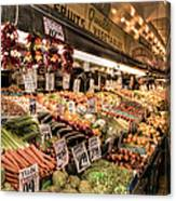 Pike Place Veggies Canvas Print