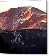 Pikes Peak Sunrise Close-up Canvas Print