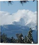 Pikes Peak Under The Clouds Canvas Print