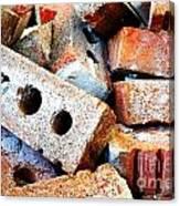 Pile Of Bricks Canvas Print