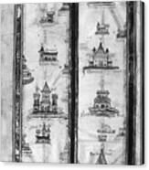 Pilgrims' Map, C1250 Canvas Print