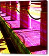 Pillars And Chains - Color Rays Canvas Print
