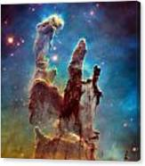 Pillars Of Creation In High Definition - Eagle Nebula Canvas Print
