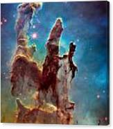 Pillars Of Creation In High Definition Cropped Canvas Print