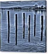pillars on the Bay Canvas Print