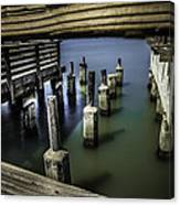 Pillars Over Pier 39 Waters... Canvas Print