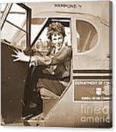 Pilot Amelia Earhart 1936 Canvas Print