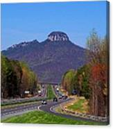 Pilot Mountain From Overlook Canvas Print