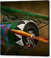Pilot - Plane - German Ww1 Fighter - Fokker D Viii Canvas Print