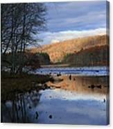 Pine Acres Lake Reflections  Canvas Print