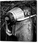 Pine Needles On Tail Light In Black And White Canvas Print