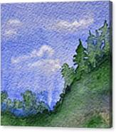 Pine Tree Hill  Canvas Print