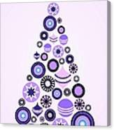Pine Tree Ornaments - Purple Canvas Print