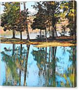 Pine Tree Water Reflections Canvas Print