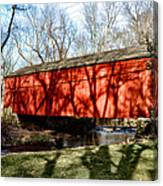 Pine Valley Covered Bridge In Bucks County Pa Canvas Print