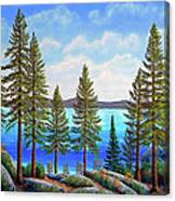Pine Woods Lake Tahoe Canvas Print