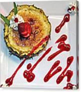 Pineapple Creme Brulee Maui Style Canvas Print