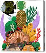 Pineapple Reef Canvas Print