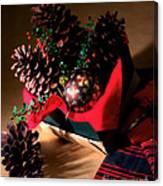 Pinecones Christmasbox Canvas Print