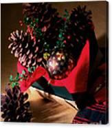 Pinecones Christmasbox Painted Canvas Print