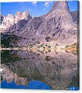 Pingora Peak On Lonesome Lake Canvas Print