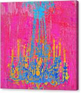 Pink And Blue Chandelier Canvas Print