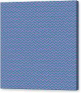 Pink And Blue Chevron Canvas Print